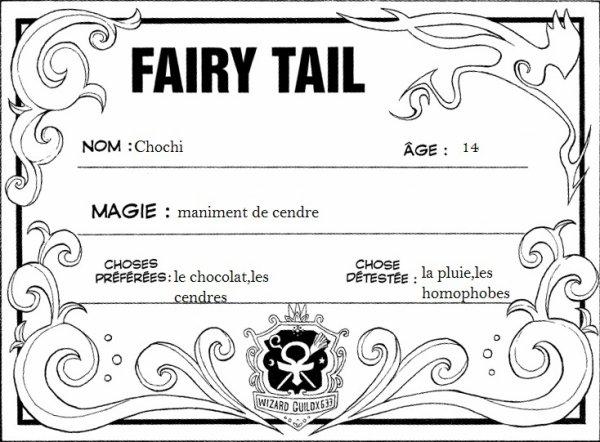 membre de fairy tail :)!