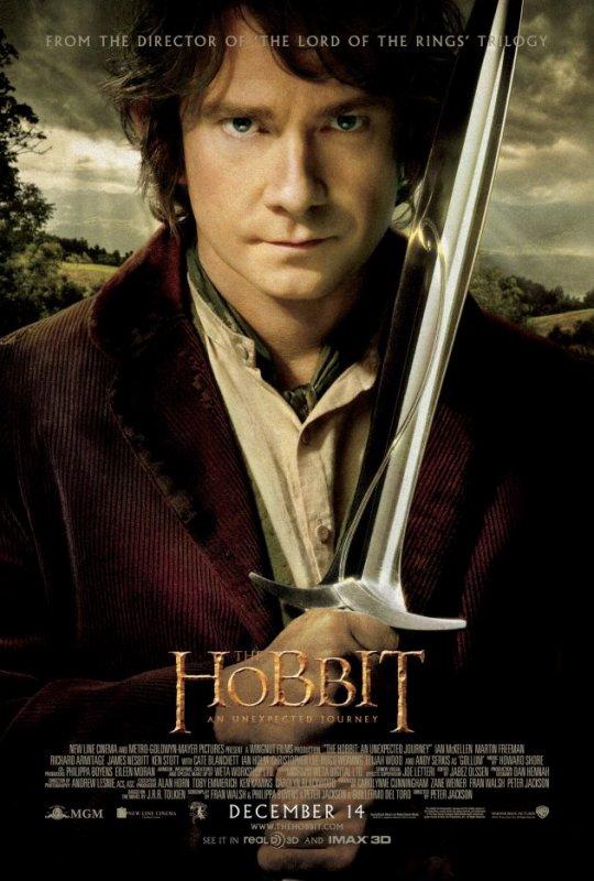 """La nouvelle et officielle Affiche de """"Le Hobbit un voyage inattendu"""""""
