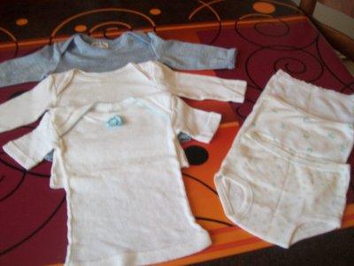 lot de 3 maillots de corps et 3 culottes
