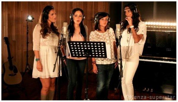 """Kenza Farah en compagnie de Shy'm , Alizée et Elisa Tovati en plein enregistrement """" Des Ricochets """" un titre en faveur des enfants de la Corne de l'Afrique + Le clip !!!"""