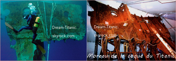 Les objets retrouvés du Titanic.