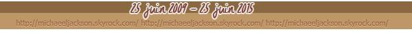25 juin 2009 - 25 juin 2015