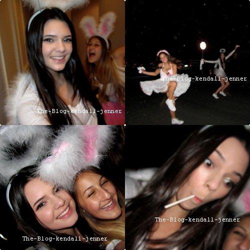 Kendall pendant la fete d'halloween