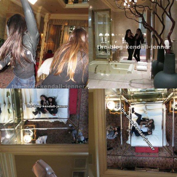kendqall et kylie dans l'hotel !