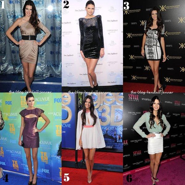 voici quelques tenue qu'a porter kendall durant l'année 2011 !