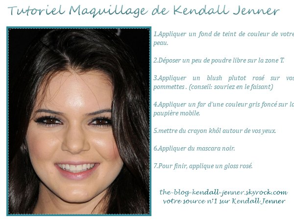 Maquillez vous comme kendall jenner !