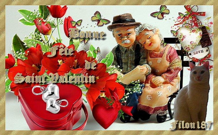 Bonne fête de Saint Valentin ♥Bisous ♥