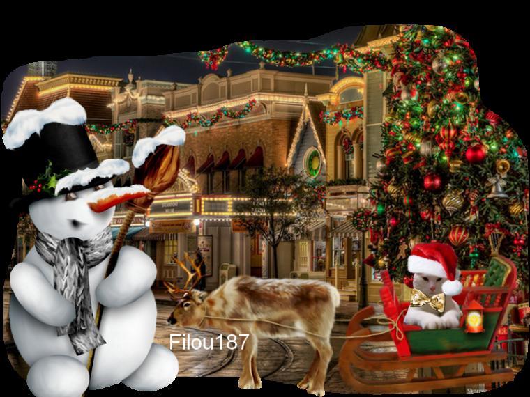Bon Noël .....Filou sur le traîneau .....