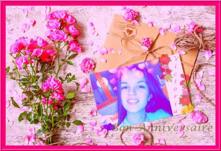 ♥Bon Anniversaire à Victoria .....plein de bonheur pour tes 16 ans !!♥