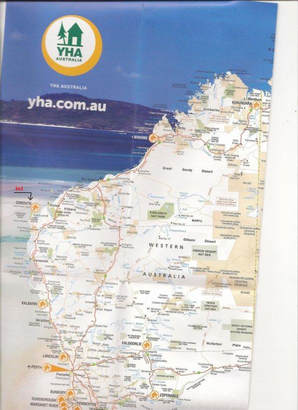 CARTE du Western Australia