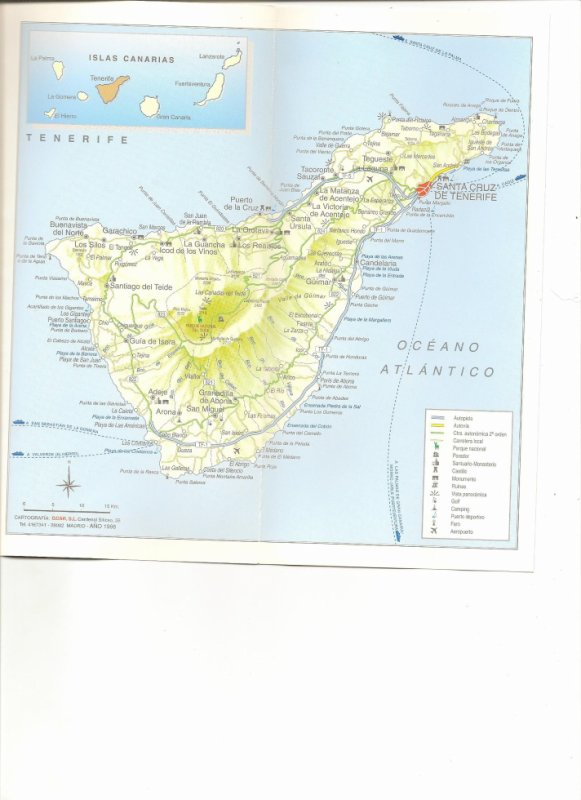 Voyage au CANARIE (Santa-Cruz de Tenerif)ESPAGNE
