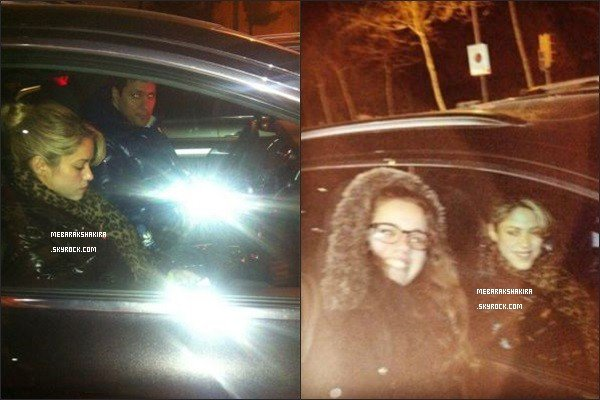 26 février 2013 : Shakira dans sa voiture, quittant le stade Camp Nou à Barcelone