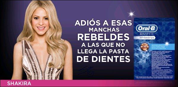 Découvrez une nouvelle photo promotionnelle de la jolie Shakira pour la marque Oral B