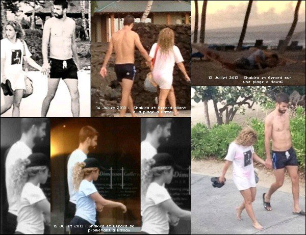 13 juillet 2013 : Shakira & Gérard se reposant dans un hamac sur une plage à Hawaii