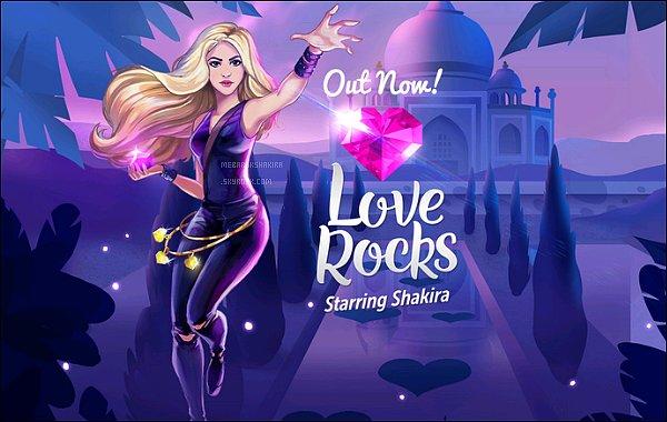 8 Octobre 2015 : La page Twitter deLOVE ROCKS a été créée & le personnage de Shakira a été dévoilé J'aime énormément Shakira dessiné de cette façon, elle tout simplement est adorable ! Hâte au 15 octobre 2015 pour la sortie du jeu