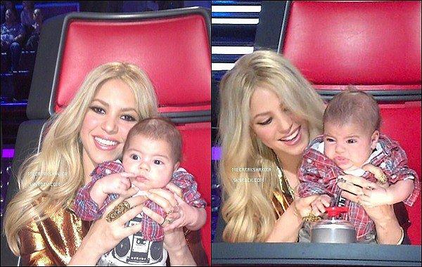 """11 avril 2013 : Shakira à posté de nouvelles photos surTwitteravec le 5eme mini-coach de The VoiceLégende du tweet de Shakira : """"Manifestement, Milan a été intrigué par cette performance @NBCTheVoice #5èmeCoach Shak"""""""