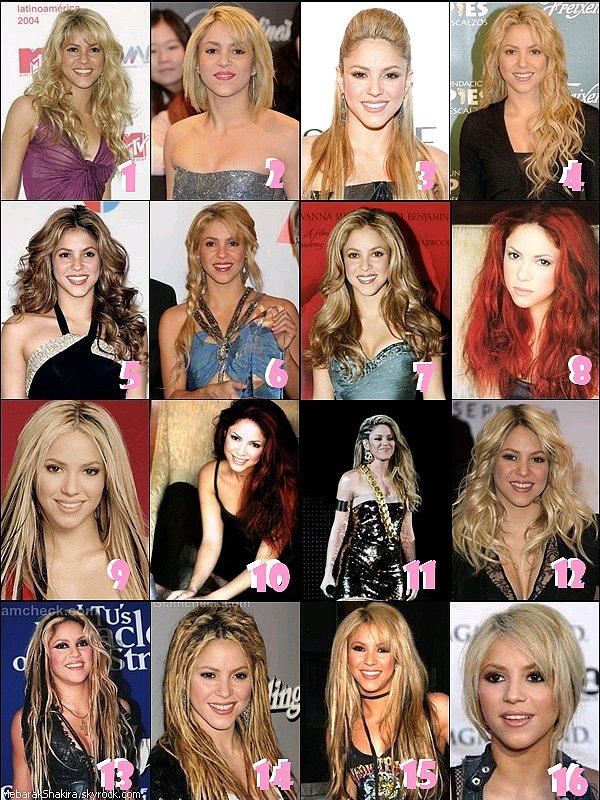 Quel coiffure de Shakira préférez-vous ? :)