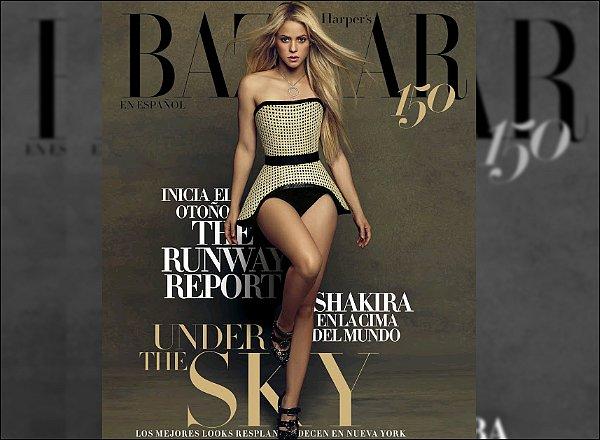 AOÛT 2017 - Shakira est n couverture du magazine mexicain HARPER'S BAZAAR EN ESPANOL S. est sublime sur ces clichés ! J'adore ses cheveux lisses, elle est splendide avec sa robe rouge ! C'est un grand TOP pour moi♥