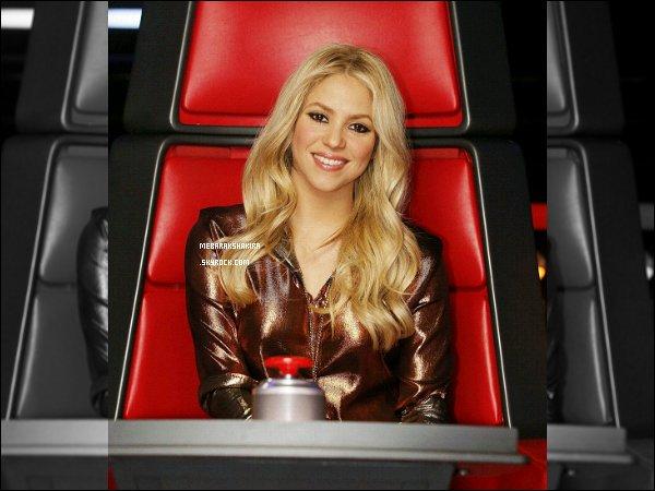 THE VOICE ●EPISODE 11 Avril 2013● Photo promotionne de Shakira pour The Voice Shakira était très mignonne. J'aime bien ses cheveux détachés légèrement ondulés. De plus son haut est assez sympa.