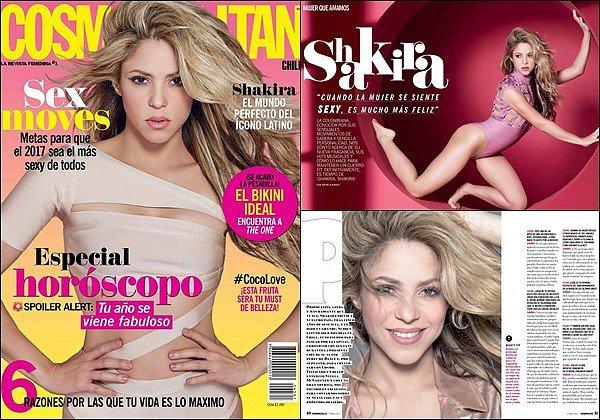 Shakira est en couverture du magazine Cosmopolitan au Chili Shakira est tout simplement parfaite sur ces clichés ! J'aime beaucoup son body couleur chair ainsi que sa belle crinière blonde !