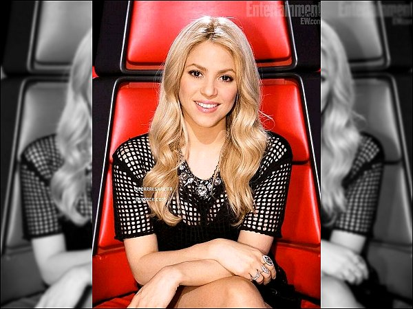 THE VOICE ●EPISODE mai 2013● Photo promotionne de la magnifique S. pour The Voice Shakira était toute jolie, j'aime bien son haut avec le collier, ça apporte un petit plus à la tenue. Un top pour la belle !