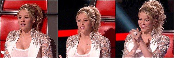 THE VOICE ●EPISODE 13 mai 2013● Photo promotionne de la belle Shakira pour The Voice S. était ravissante une fois encore, j'aime beaucoup sa veste blanche avec les décorations argentées pailletées sur les bras, c'est très joli.