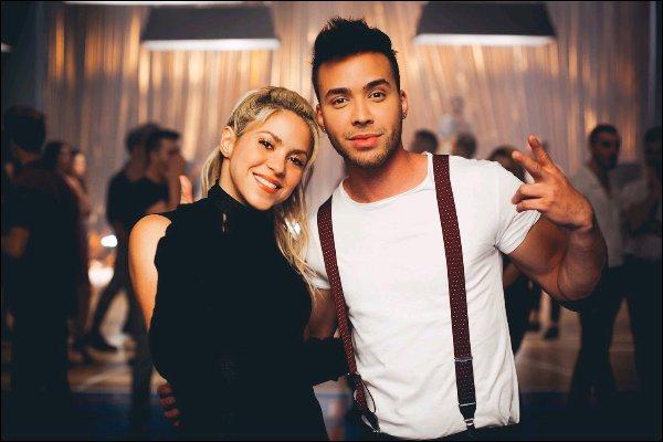 """7 mars 2017 : Shakira a posté une nouvelle photo en compagnie du chanteurPrince Royce Cette photo avait été prises lors du tournage du clip de """"Deja vu"""", ils sont magnifiques tous les deux, j'aime beaucoup la photo !"""