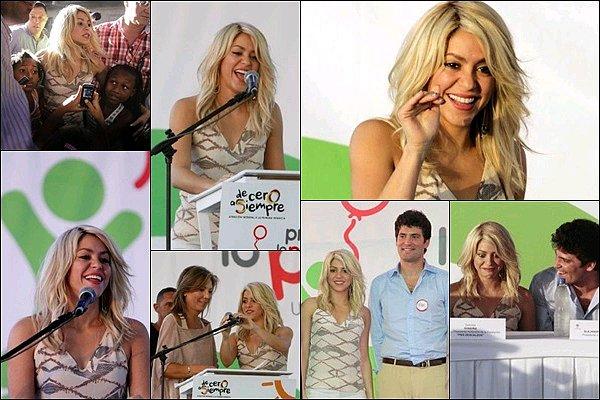 12 Avril 2012 : Shakira a remis le prix  ALAS-BID lors du Sommet des Amériques à Carthagène Shakira était sublime, elle irradiait avec son sourire. Avec sa fondation Shakira aide à la création de nouvelles écoles.