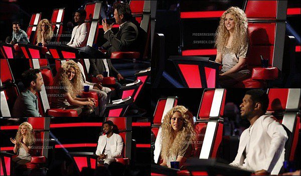THE VOICE ● EPISODE 20 mai 2013 ● Photo promotionne de la magnifique S. pour The Voice Shakira en a mis plein la vue avec sa belle crinière de lionne. J'aime bien son haut doré, il est joli et ce genre lui va très bien :)