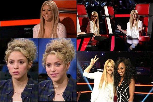 THE VOICE ●EPISODE 27 mai 2013● Photo promotionne de la belle Shakira pour The Voice S. était mignonne, j'aime bien ses cheveux lisses et sa veste blanche. Son haut blanc en dessous est bien également. J'adore & vous ?