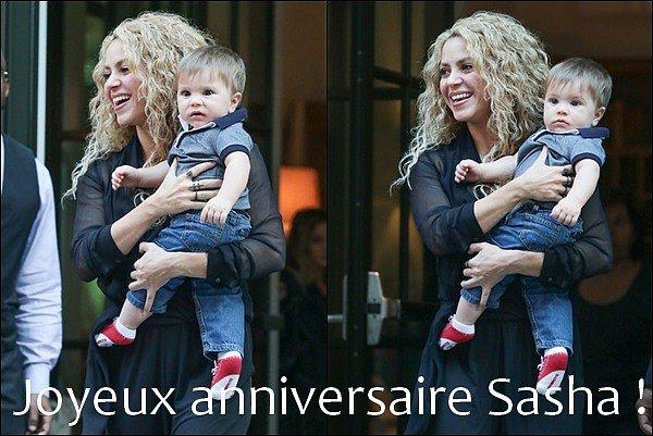 En ce 30 Janvier 2016, cela fait un an que Sasha Piqué Mebarak est né, Joyeux anniversaire à lui♥