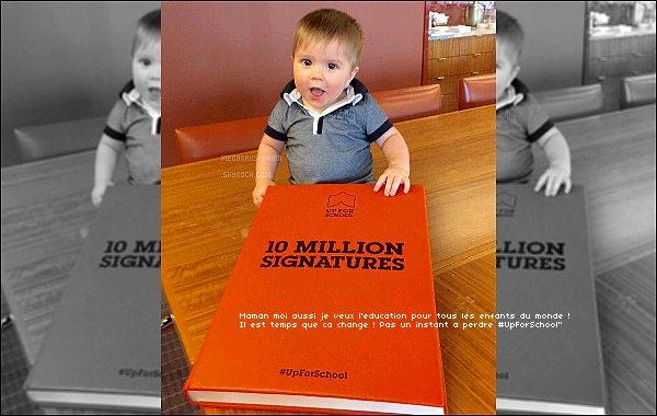 25 Septembre 2015 : Shakira a posté une nouvelle photo de son adorable fils Sasha sur Twitter