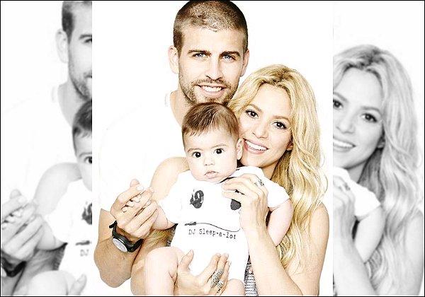 16 juin 2013 : Shakira a posté sur Twitter une photo de Gérard, Milan & elle pour la fête des pères.  Ils sont trop mignons tous les trois sur cette photo ! Shakira a un joli sourire, comme toujours. Bref super photo ! :)