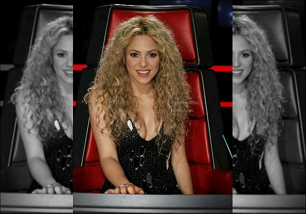 THE VOICE ● EPISODE 17 Juin 2013 ● Photo promotionne de la jolie Shakira pour The Voice La colombienne était superbe !! J'aime bien ses cheveux bouclés et sa robe noir très décolleté, ça lui allait à ravir. Un TOP pour la belle.