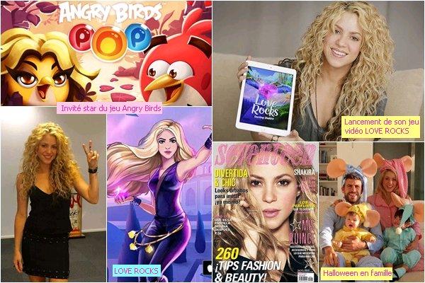 """Voici un petit récapitulatif de l'année 2015 pour la belle colombienne. 2015 avait très bien commencé pour elle avec la naissance de son fils Sasha Piqué Mebarak. Shakira a collaboré avec le groupe de Rock mexicain Mana. Miss Mebarak est entrée dans le livre des records, tourné une nouvelle publicité pour Oral B, elle est ravissante de-dans ! Shakira a donné des conférences de presse à l'ONU, UNICEF dont elle est l'ambassadrice. Ainsi qu'avec Fisher Price (marque avec laquelle elle a une ligne dejouets). Elle a égalementinterprété """"Imagine"""" devant le Pape. Shakira était l'invité star du jeu Angry Birds, elle a par la suite lancé son propre jeu LOVE ROCKS! Shakira a également lancé cette année son 9ème parfum : LOVE ROCK ! By Shakira."""