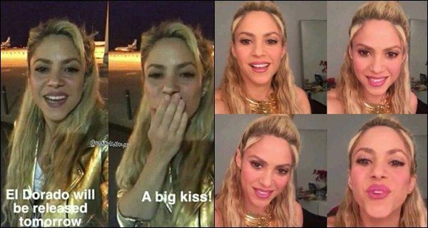 24 mai 2017 : Shakira donnant une interview pour la promotion de son nouvel album El Dorado Shakira est tout simplement adorable, j'aime bien son petit haut et cette coiffure lui va vraiment bien ! elle était au TOP :)