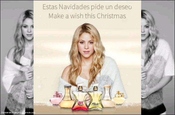"""15/12, du nouveau sur Twitter...""""Besoin d'idée pour un cadeau de noël !? Découvrez la gamme de parfums de Shakira Shakira-Beauty.com."""" Voici quelques uns des parfums de la belle, en revanche on ne peut pas les acheter sur le site."""