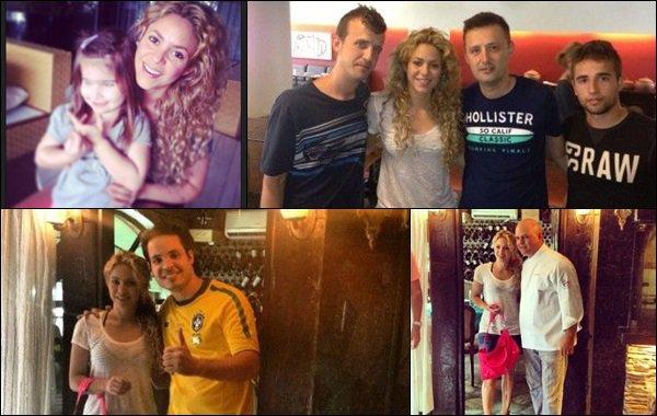 25 juin 2013 : Shakiraa pris quelques photos dans sa voiture avec des fans à Fortaleza Shakira était très jolie et souriante, j'aime beaucoup ses cheveux frisés, elle est rayonnante encore une fois