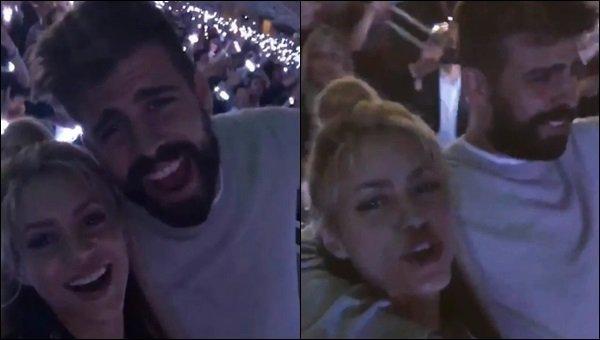 26 mai 2016 : Shakira et Gerard ont assistés au concert du groupeColdplay en tournée à Barcelone La belle colombienne avait l'air de s'éclater lors de ce concert, elle a posté une vidéo d'eux en train de chanter et danser sur instagram.