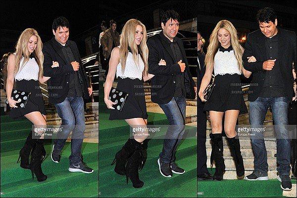 3 février 2016 : Shakira & Tonino repartant de la soirée d'avant première de Zootopia à Barcelone S. était adorable et toujours aussi magnifique au bras de son demi-frère. Et quel sourire ! La belle n'est pas l'égérie d'Oral b pour rien :)