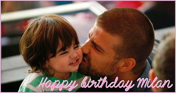 En ce 22 Janvier 2016,cela fait 3 ans déjà que la belle colombienne et son footballeur préféré ont donné naissance à leur premier fils Milan Piqué Mebarak. Joyeux anniversaire à lui ♥ ♥ ♥