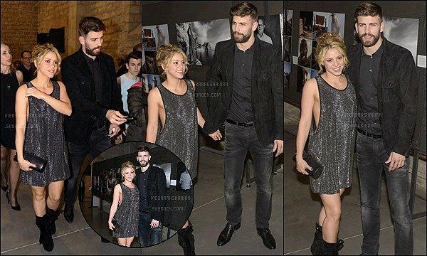 25 Janvier 2015 : Shakira a accompagné Gerard lors de la cérémonie des Festa De Esport Catala Nos deux amoureux étaient magnifiques ce soir là. Gerard a reçu le titre de meilleur joueur catalan de la saison 2015, Bravo à lui !