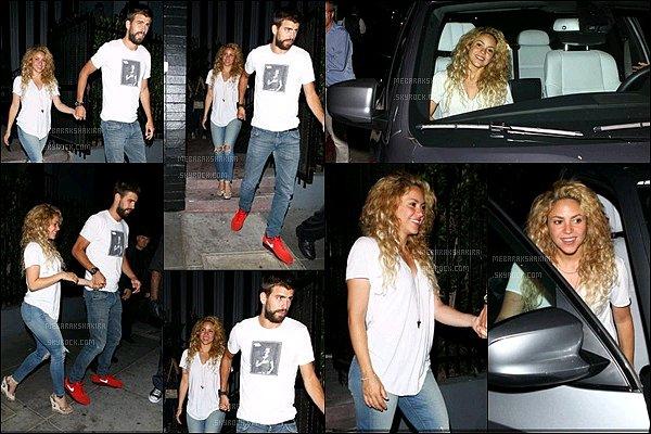 24 juillet 2013 : Shakira & Gérard sortant d'un restaurant à Los Angeles