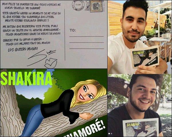 """7 Avril 2017,Découvrez le nouveau single espagnol de la belle """"Me enamoré"""" Dans cette chanson Shakira déclare tout son amour à son compagnon Gerard Piqué avec qui elle est depuis 7 ans."""