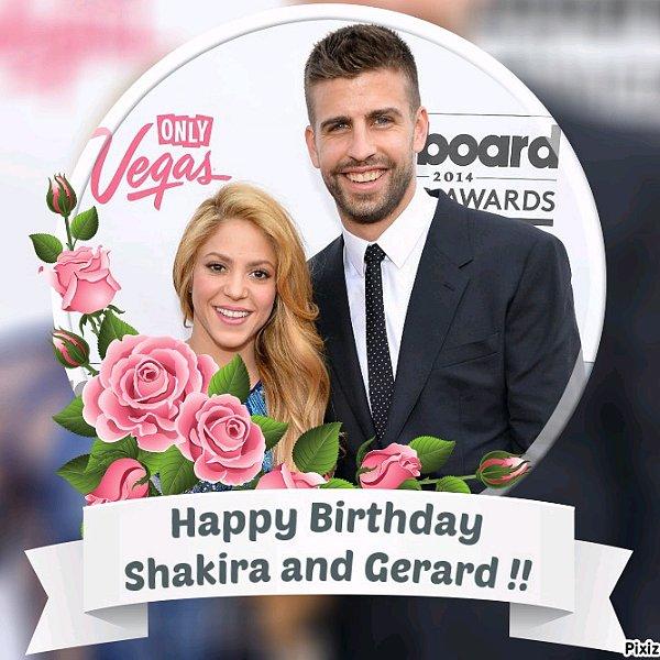 En ce 2 février 2017, Nous fêtons que 40ème anniversaire de la ravissante colombienne, très bon anniversaire à elle ainsi qu'à son compagnon Gerard qui fête ses 30 ans.♥♥♥♥