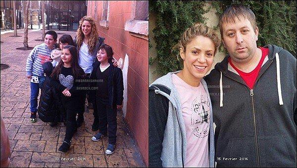13 février 2016 : Shakira a pris une photos avec des petits fans à Barcelone, ils sont adorables :) + Le 15  février 2016, Shaka également pris une photo avec un fan chanceux dans Barcelone. Quel beau sourire encore une fois.