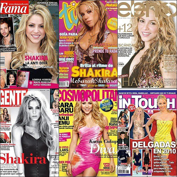 Re-découvrez quelquescouvertures de magazines de notre jolie cover girl colombienne !