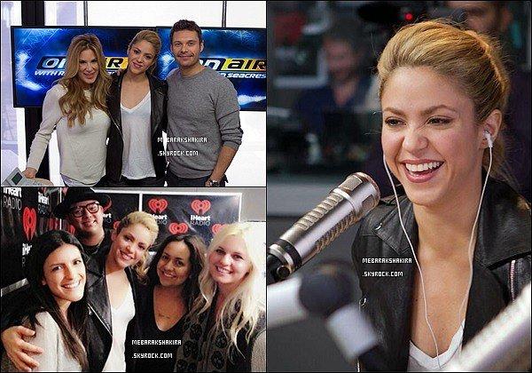 11 février 2014 : Shakira a donné une interview avec Ryan Seacrest pour la radio américaineKiisFM La colombienne était vraiment ravissante et pétillante, j'aime beaucoup sa queue de cheval, de plus sa tenue était très jolie :)