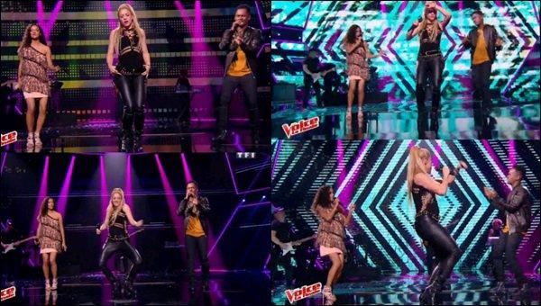 """10 juin 2017 : Shakira et Black M étaient réunis pour chanter """"Comme moi"""" à The Voice à Paris J'ai adoré les voir tous les deux sur scène, avec la candidate Lucie. Shakira nous en a mis plein les yeux avec son déhanché !"""