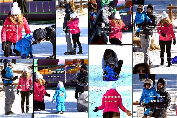 30 décembre 2014 : Shakira, Gerard & Milan jouant dans la neige. Quelle belle famille ! ♥